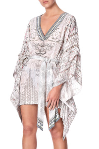 DOUBLE LAYER KIMONO SLV DRESS CRYSTAL CASTLE