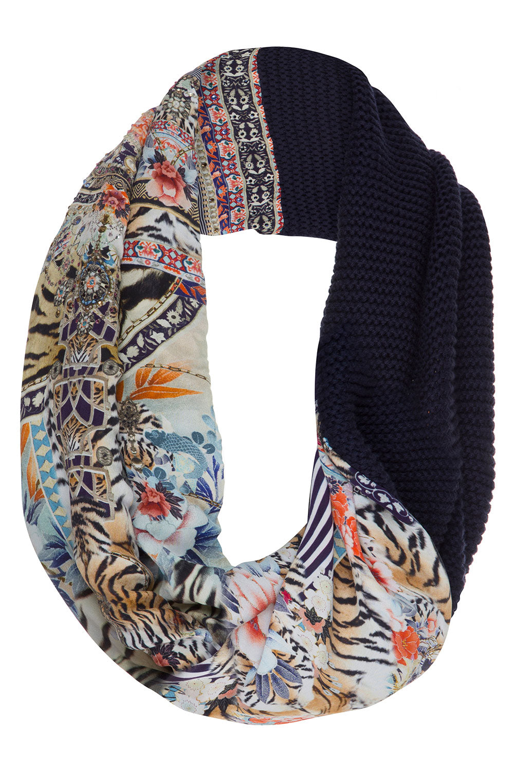 CAMILLA THE LONELY WILD DOUBLE SIDED SCARF