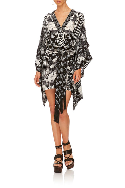 CAMILLA WILD MOONCHILD DOUBLE LAYER KIMONO SLEEVE DRESS