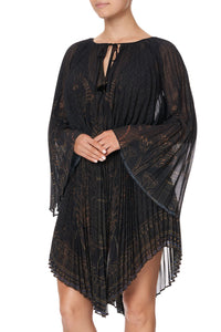 DOUBLE LAYER PLEATED DRESS COBRA KING