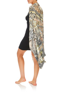 CAMILLA DRAPED CAPE MOTO MAIKO