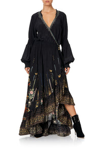 BLOUSON SLEEVE WRAP DRESS REBELLE REBELLE