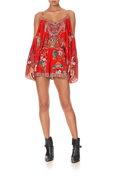 DROP SHOULDER PLAYSUIT CAMEOS CAN CAN