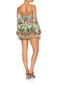 DROP SHOULDER PLAYSUIT CHAMPAGNE COAST