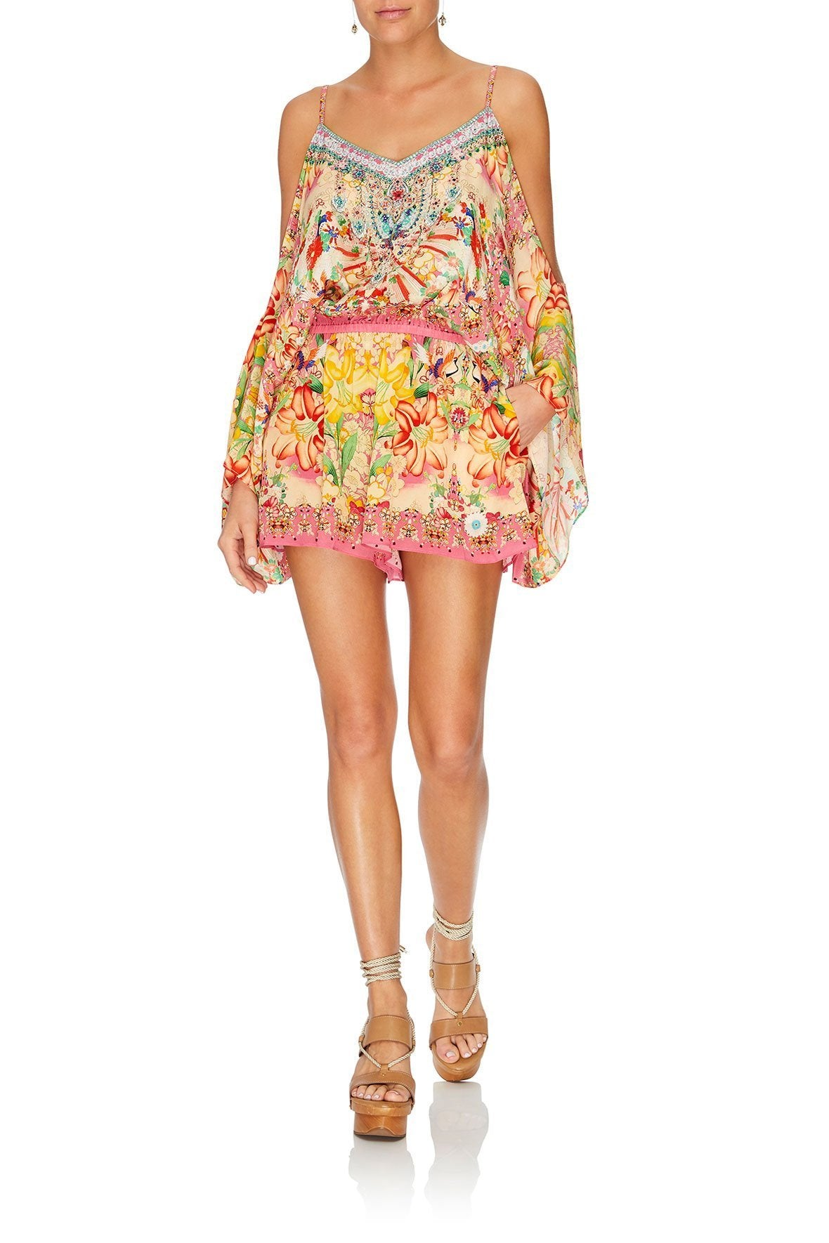 DROP SHOULDER PLAYSUIT KIMONO KISSES