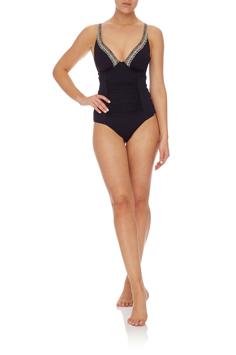 CAMILLA E CUP UNDERWIRE ONE PIECE BLACK