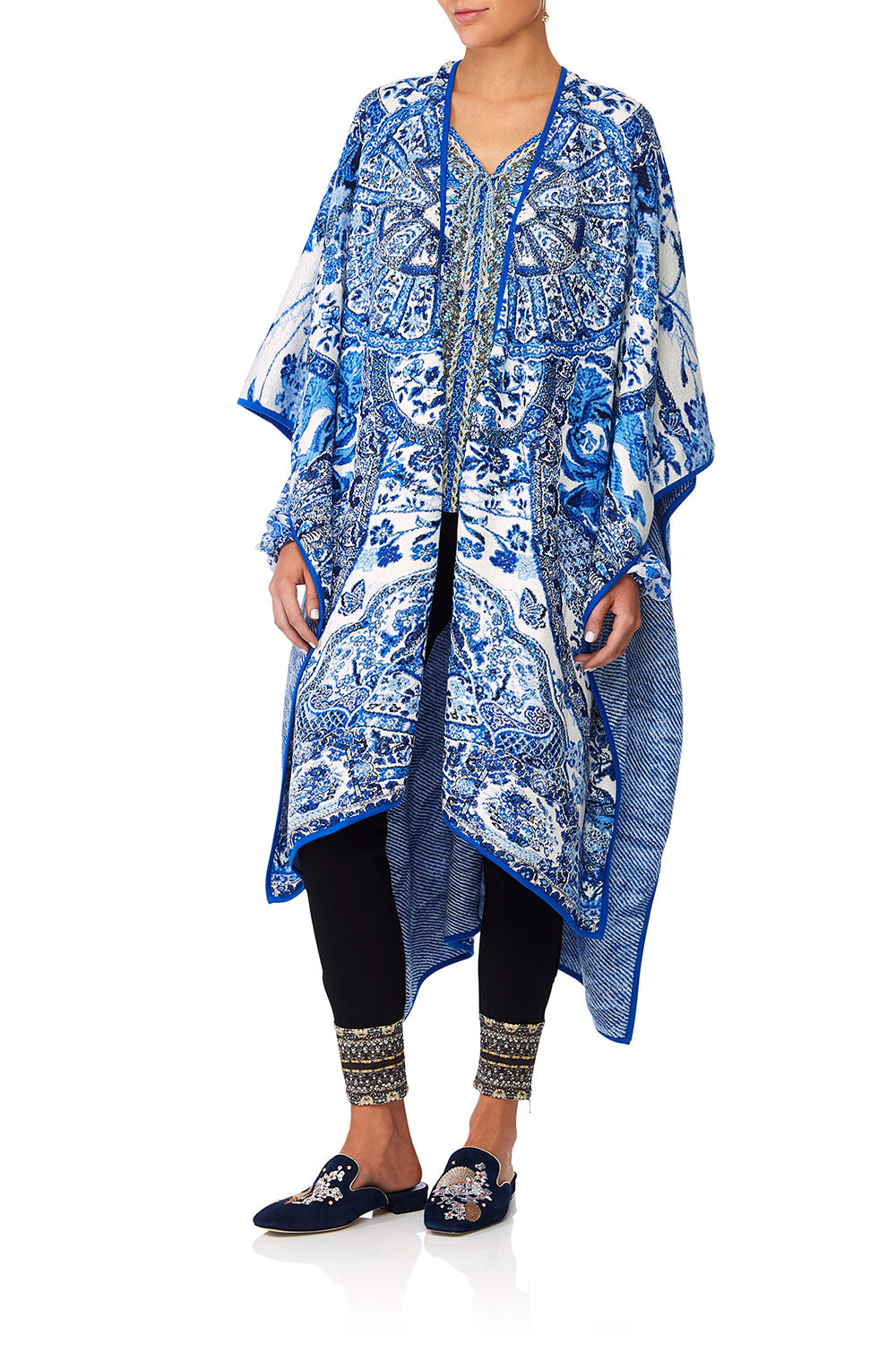 CAMILLA ETERNITYS EMPIRE OVERSIZED THROWOVER PONCHO