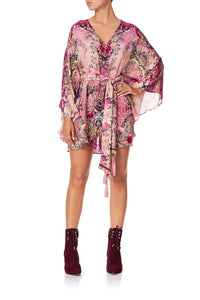 BUTTON UP KAFTAN WITH BELT LA BELLE