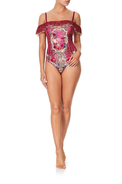 OFF THE SHOULDER ONE PIECE PALAIS ROUGE
