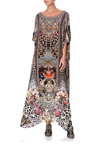 ROUND NECK KAFTAN MARAIS AT MIDNIGHT