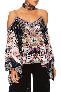 CAMILLA NIGHTS WITH HER FLARE SLEEVE TOP