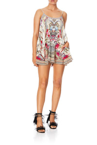 FLARED PLAYSUIT WITH OVERLAYER MONTMARTRE HEART