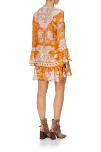 FRILL HEM LONG SLEEVE DRESS MARRAKESH MAIDEN