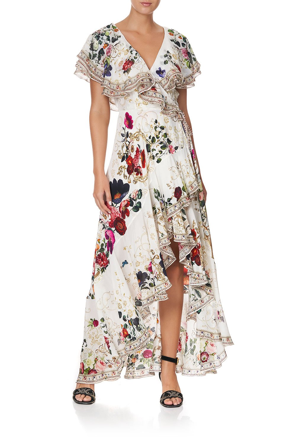 FRILL SLEEVE LONG DRESS FAIRY GODMOTHER