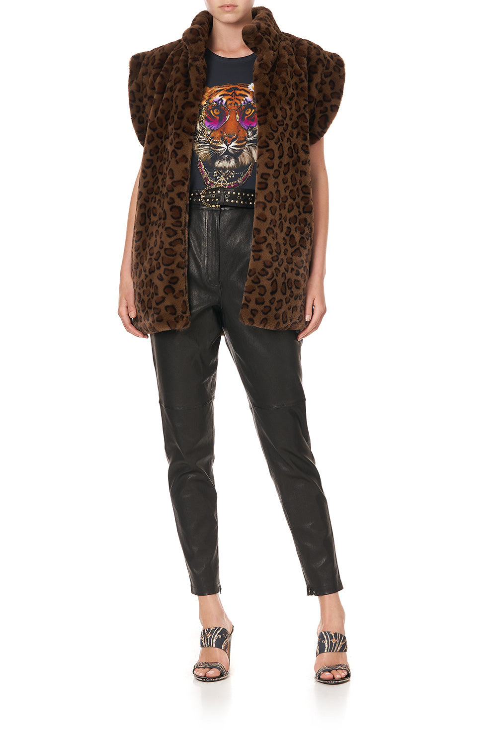 OVERSIZED FAUX FUR GILET - FLOW STUDIO 54