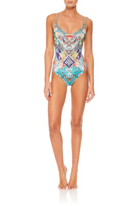 CAMILLA GALAXY GIRL TWIST TIE ONE PIECE WITH TRIM