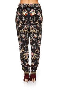 HAREM PANT WITH FRONT PLEATS FRIEND IN FLORA