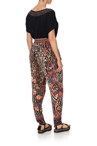 HAREM PANTS WITH FRONT PLEATS LIV A LITTLE
