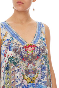 CAMILLA HIGH LOW CROSS BACK TOP GEISHA GATEWAYS