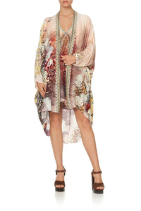 HIGH LOW HEM CASUAL JACKET COASTAL TREASURE