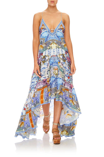 CAMILLA HIGH-LOW U-RING DRESS GEISHA GATEWAYS