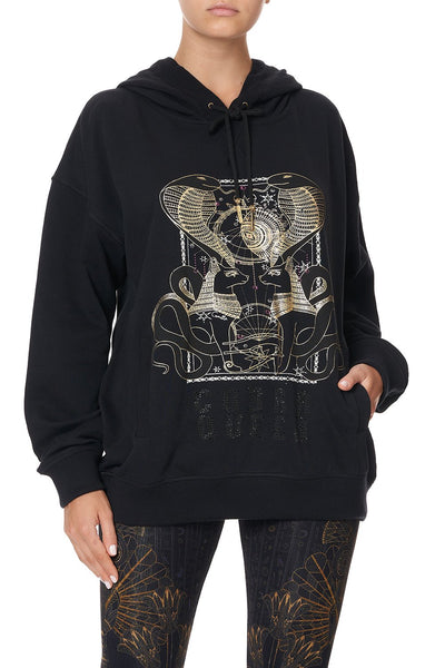 HOODIE WITH SIDE POCKETS COBRA KING