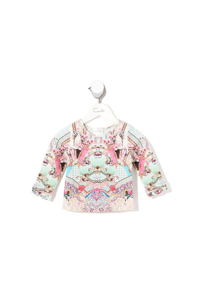 BABIES LONG SLEEVE TOP WITH FRILL CAROUSEL MADEMOISELLE