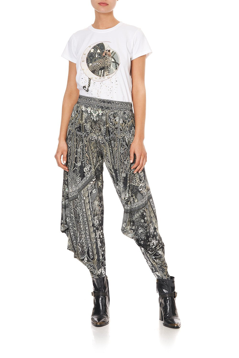 JERSEY DRAPE PANT WITH POCKET ONE TRIBE