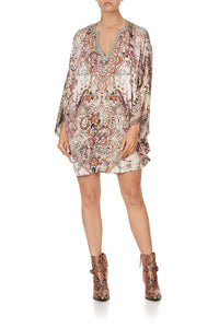 JERSEY SHORT KAFTAN WITH CURVED HEM TALES OF TALITHA