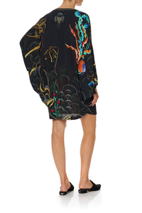 JERSEY SHORT KAFTAN WITH CURVED HEM WISE WINGS