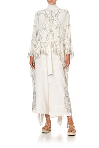 LONG SHEER OVERLAY DRESS LUXE CREAM