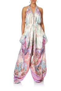CAMILLA JUMPSUIT WITH DROP CROTCH PANT ELECTRON LIBRE