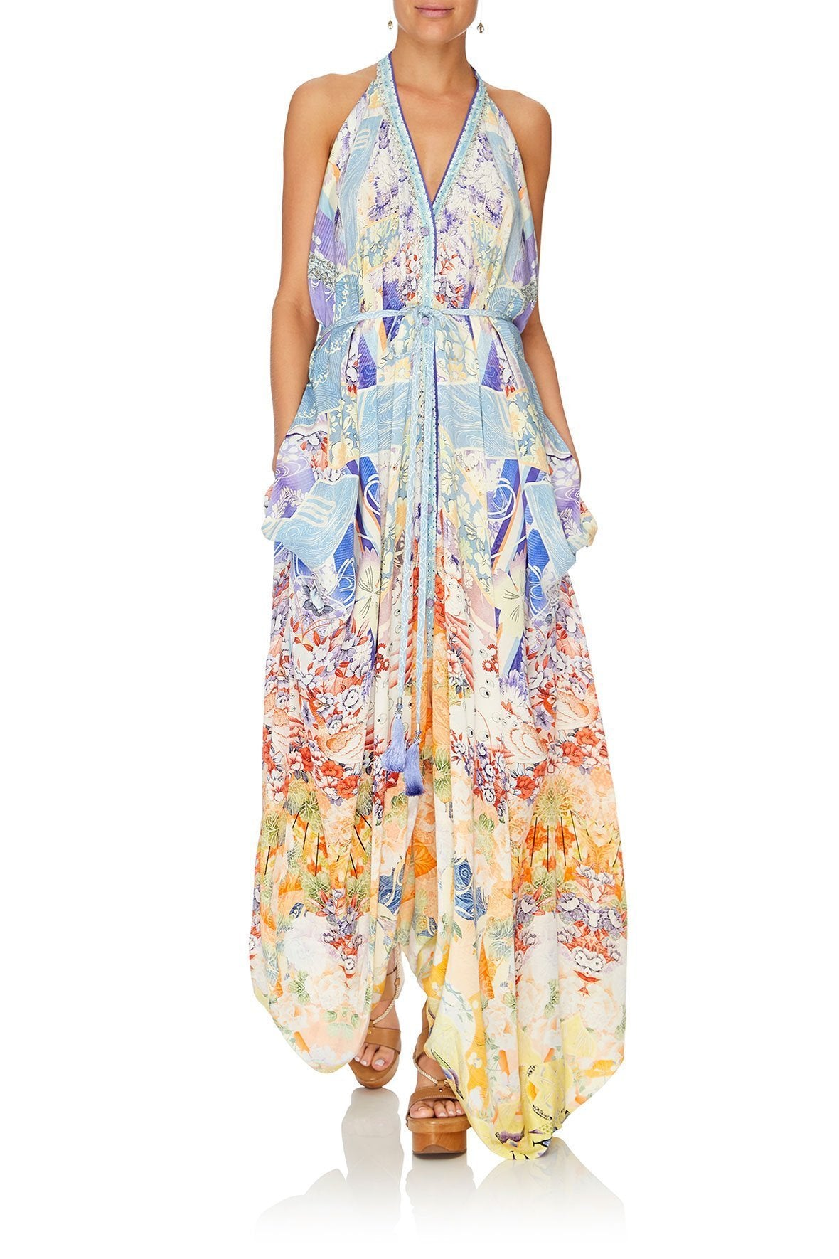 JUMPSUIT WITH DROP CROTCH PANT GIRL IN THE KIMONO
