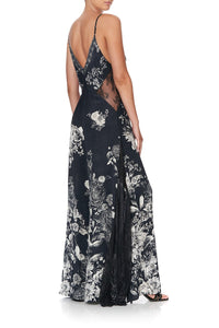JUMPSUIT WITH LACE INSERT MOONSHINE BLOOM
