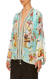 CAMILLA KAFTAN W/ SHEER SLEEVE RETRO'S RAINBOW