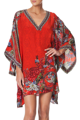 KAFTAN WITH SIDE WRAP WONDERING WARATAH