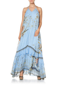 KEYHOLE NECK LONG DRESS FAIRY FOUNTAIN