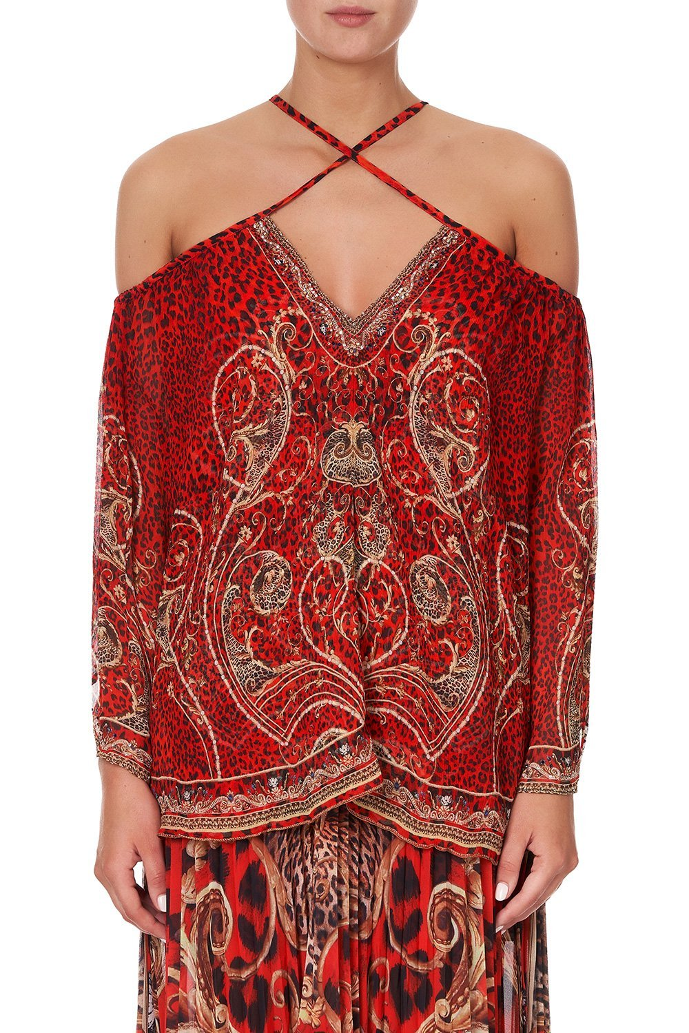 KEYHOLE OFF SHOULDER BLOUSE SLAVE TO THE RHYTHM
