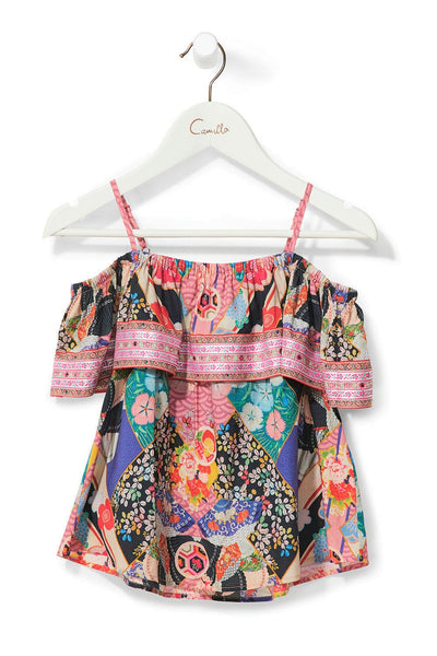 CAMILLA POSTCARDS FROM MARS KIDS RUFFLE TOP W TRIM