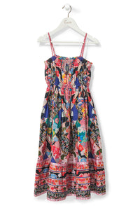 CAMILLA POSTCARDS FROM MARS KIDS SHIRRING NECK DRESS