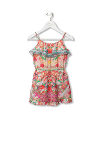 KIDS' PLAYSUIT WITH FRILL KIMONO KISSES