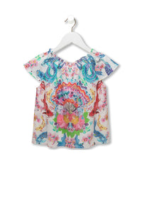 KIDS' SHIRRED NECK TOP DRAGON DIVINITY