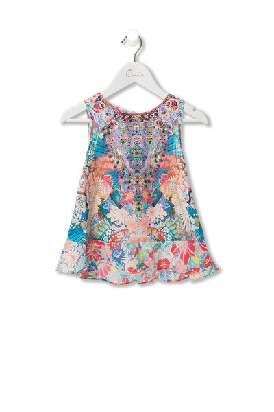 KIDS' TANK WITH FRILL HEM MISO IN LOVE