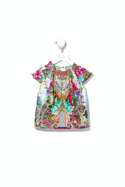 KIDS TOP WITH SHIRRING CHAMPAGNE COAST