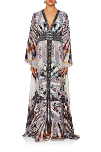 CAMILLA IN HER SHOES KIMONO SLEEVE DRESS W SHIRRING DETAIL