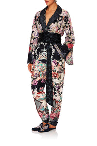 CAMILLA NIGHTS WITH HER KIMONO SLEEVE JUMPSUIT WPIPING