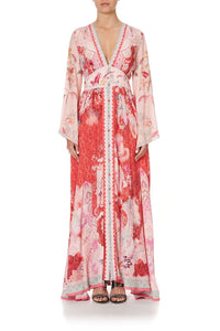 KIMONO SLEEVE DRESS WITH SHIRRING DETAIL PALACE MUSE