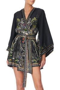 KIMONO WRAP DRESS WITH OBI BOTANICAL CHRONICLES