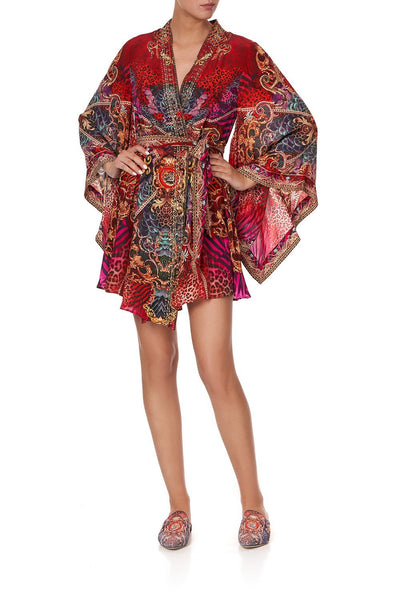 KIMONO WRAP DRESS WITH OBI SLAVE TO THE RHYTHM