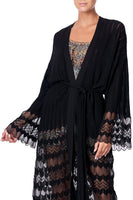CAMILLA KNITTED LACE CARDIGAN MARAIS AT MIDNIGHT